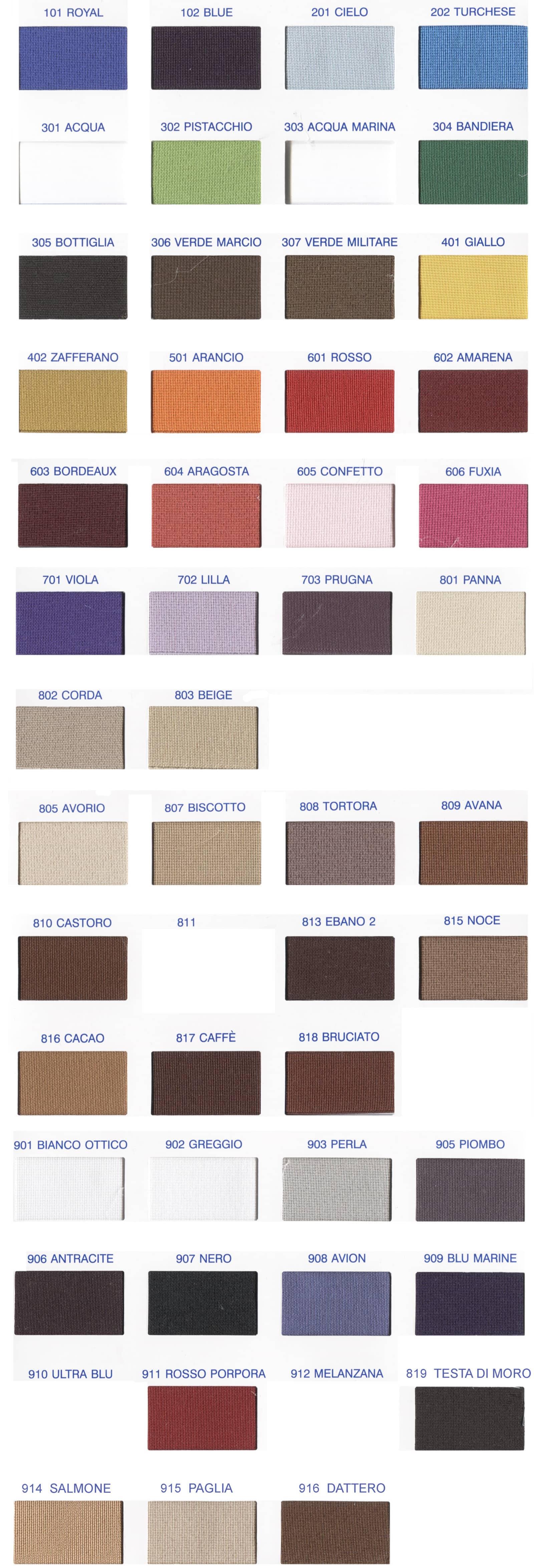 Cartella colori elastico 810