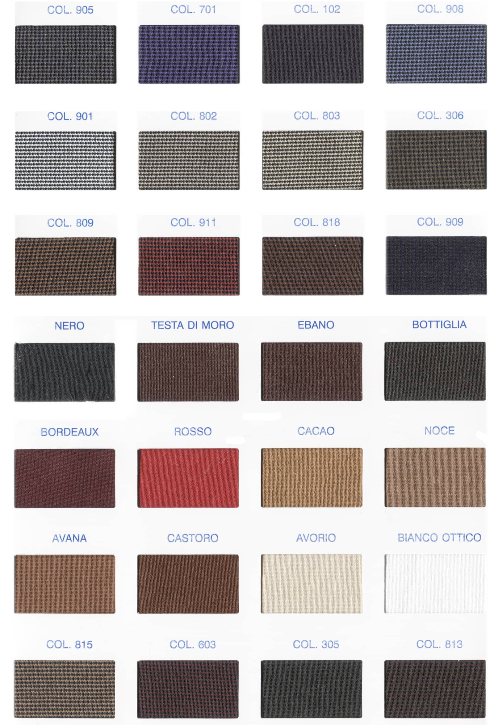 Cartella colori elastico 880