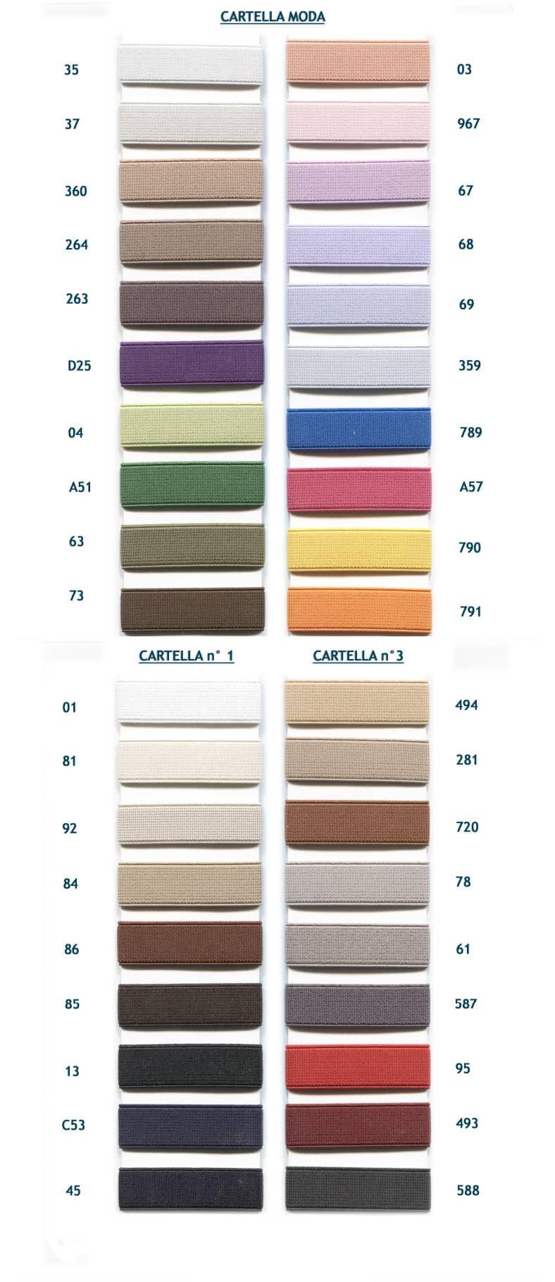 Cartella colori Elastico E3