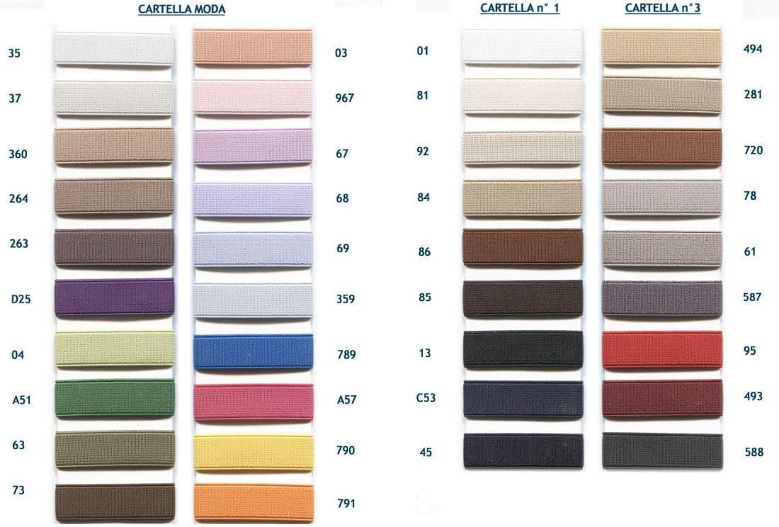 Cartella colori elastico Lanzi E3