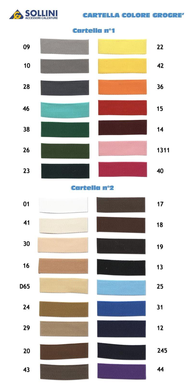 Cartella colori nastro Grogrè