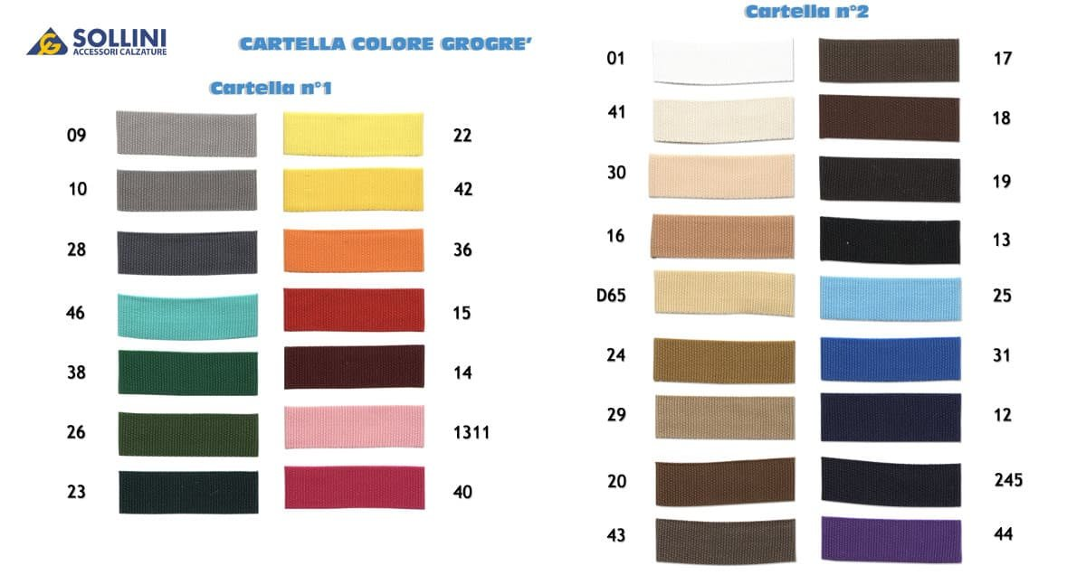 Cartella colori nastro Grogrè small